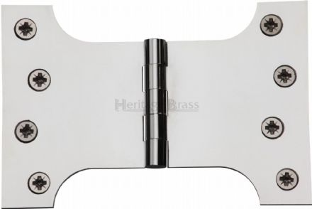 "M Marcus Heritage Brass HG99-395-PC  Brass Parliament Hinge  4"" X 4"" X 6"" Polished Chrome"
